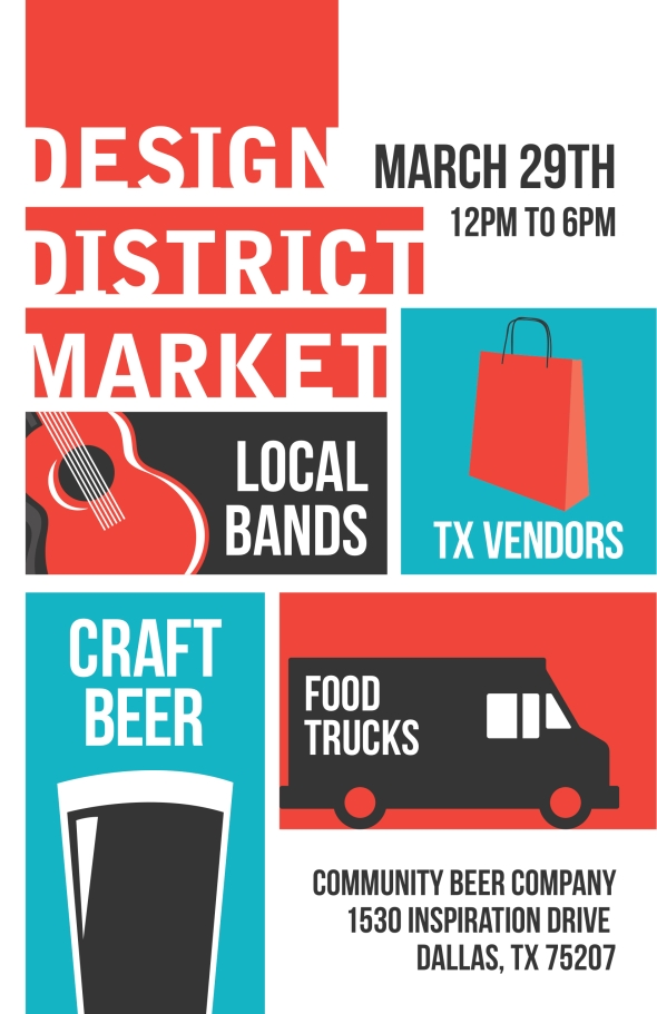 Design District Market Poster